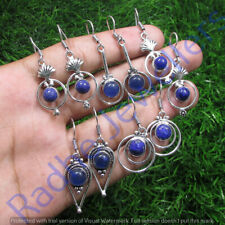 Lapis Lazuli 10 pair Wholesale Lots 925 Sterling Silver Plated Earrings Lots
