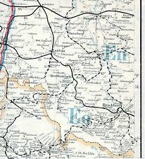Görlitz Bunzlau Hirschberg 1940 orig. Post-Leitkarte (Teil) Lubań Bolesławiec PL