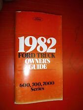 1982 FORD MEDIUM DUTY TRUCK 600 7000 SERIES ORIGINAL OWNERS MANUAL GUIDE 700 1ST