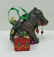 Danbury Mint Baby Animal Ornament- Hippo (Box #13)