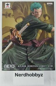 One Piece Roronoa Zoro Figure Modeling Story Banpresto - New In Hand FREE Ship