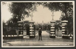Postcard Walmer nr Deal Kent the Royal Marine Barracks military posted 1937 RP