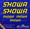 5 Adesivi HRC SHOWA Moto GpGiallo bordo Nero