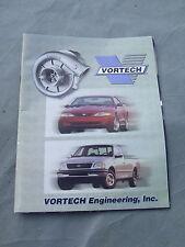 Vortech Engineering Inc produits catalogue édition 1996 avec mise à jour 1999 Feuille