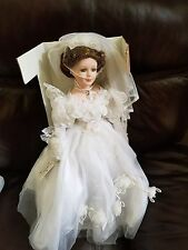 The Anastasia Collection doll Sarah genuine porcelain bride