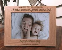 Personalised Father's Day Photo Frame  Fathers Day Gift Special Dad
