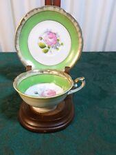 Beautiful Vintage Decorative Flower Design Demitasse Cup & Saucer-Free Shipping