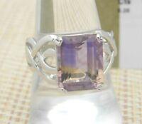 Anahi Ametrine Sterling Silver Ring ATGW Size 8 TGGC 6.28ct