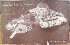 Irish Postcard LOUGH DERG Station Island St Patrick's Purgatory Ireland By Air