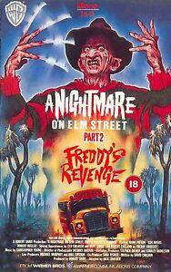 A NIGHTMARE ON ELM STREET 2 FREDDYS REVENGE Movie Poster Horror Freddy Krueger