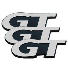 "1999-2004 Mustang GT Chrome & Black Fender & Trunk 4"" x 1 3/8"" Emblems Set of 3"