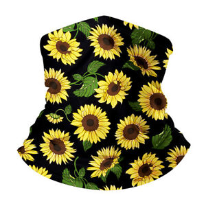 BL_ Lovely Sunflower Seamless Bandana Neck Gaiter Scarf Outdoor Riding Face Cove