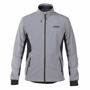 SALE - New SWIX BERGAN MENS JACKET Size: SMALL Color: GRIFFIN (Gray w/ Black)