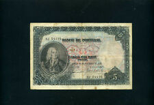 Portugal 5000 reis 5 mil reis 1909 - VF-