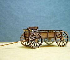 FARM WAGON (2) Sn3 S Scale Model Railroad Structure Unptd Wood Laser Kit RSL5501