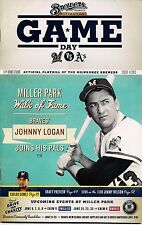 JOHNNY LOGAN ON COVER MILWAUKEE BREWERS 2013 OFFICIAL GAMEDAY PROGRAM ISSUE #11