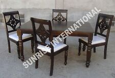 Ethnic Design Wooden Dining table with 4 chair set !