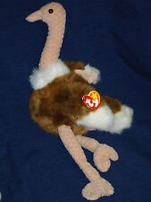 "16"" plush Ty Beanie Buddies Stretch Ostrich w/Tag 1998"