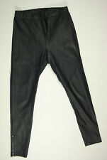 'DIVIDED' by H&M Leggings Black Faux Leather Pants Size 24 AU6 US2 UK4 Womens