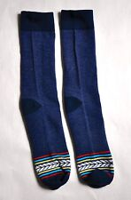 Mens Crew Socks 1 Pair Casual Navy Blue Stripe Trouser Father's Day Gift Guy