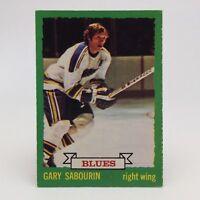 1973 74 OPC O Pee Chee Gary Sabourin 168 St Louis Blues Hockey Card E648
