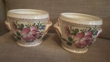 Two Hand Painted Ceramic Plant Pots France