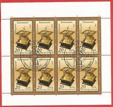 Horizontal Tischsonnenuhr von1611 Kleinbogen DDR  # 2798 Ersttagssonderstempel