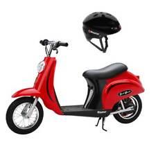 Razor Pocket Mod Mini Euro 24V 250W Electric Kids Retro Scooter w/ Helmet, Red