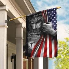 Jesus. Christian. Don't Be Afraid. Just Have Faith Flag Garden and House Flag