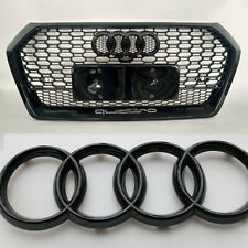 Front Grille Hood Emblem Gloss Black Badge A1 A3 A4 S4 A5 S5 A6 S6 For Audi Ring