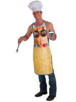Adult's Full Length Tropical Hawaiian Luau BBQ Chef Apron Costume Accessory