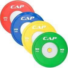 """CAP 2"""" Olympic Competition Rubber Bumper Plates with Steel Hub Single"""