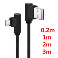 Newly 90 Degree Right Angle Micro USB Fast Charger Data Sync Charging Cable Cord