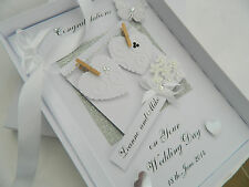 Handmade Personalised Card Wedding Day Anniversary Engagement Gift Box BC
