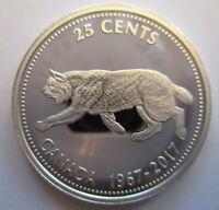CANADA 1967-2017 25 CENTS 99.99% PROOF SILVER CENTENNIAL QUARTER COIN