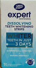 Boots Expert Fast (10-15 mins) teeth Whitening Strips 56 strips 2 week treatment