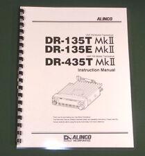 Alinco Dr-135Tmkll/435Tmkll Instruction Manual - comb bound & protective covers!