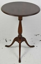 Stickley Round Mahogany Candlestick Occasional Table Williamsburg Style