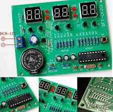 1PCS 9V-12V AT89C2051 6 Digital LED Electronic Clock Parts Components DIY Kit UK