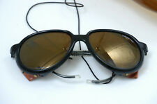 New listing Vintage Bolle Irex-100-mirrored yellow Sunglasses & case Glacier Mountaineering