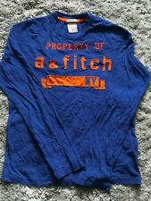 Preloved boys A&F blue & orange long sleeve top in very good condition. L size