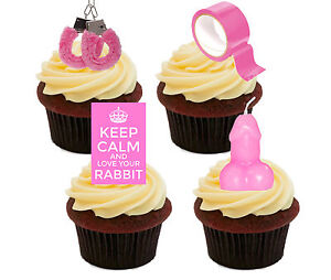 Ann Summers Party Edible Cupcake Toppers - Rude Stand-up Fairy Cake Decorations