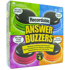 Learning Resources RECORDABLE Answer Buzzers (Set of 4)