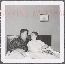 Vintage 1951 Photo Man & Woman Laying in Bed Together 718691