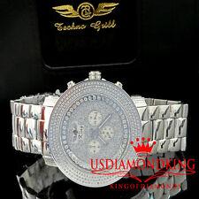 Real Diamond 14k White Gold Chrono Stainless Steel Jojo/Jojino/Joe Rodeo Watch