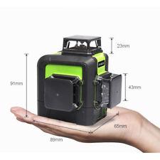 New 3D Laser Level Meter 12 Lines 360 Degrees Self Leveling Mini Portable