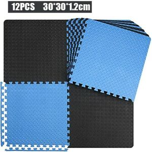 12PCS EVA Floor Sport Gym Yoga Pads 30*30cm Non-Slip Foam Room Workout Mat