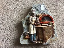 Decoration boulanger sur plaque de marbre Vintage (1)