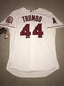 Mark Trumbo Autographed(PSA) LA Angels Authentic On-Field Majestic Jersey 52 NWT