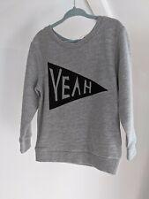 Trendy Minoti Grey Sweatshirt Top baby Boy Girl Unisex 9-12 Months